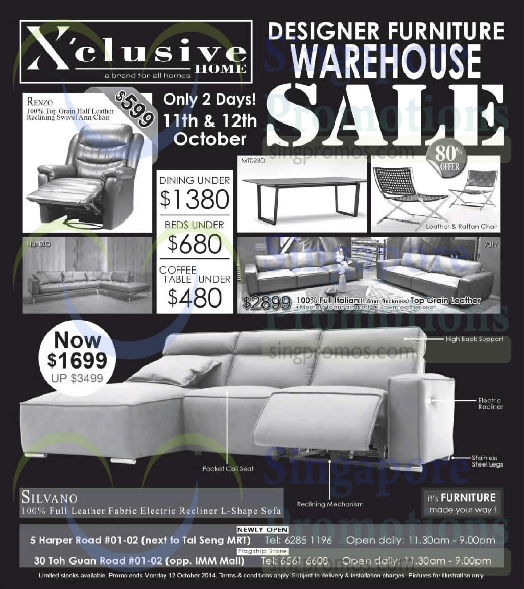 Xclusive 11 Oct 2014 Xclusive Home Designer Furniture Warehouse Sale 11 12 Oct 2014