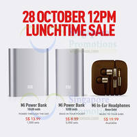 Xiaomi Power Banks & In-Ear Headphones Restocked Sale 28 Oct 2014