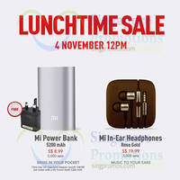 Xiaomi Power Banks & In-Ear Headphones Restocked Sale 4 Nov 2014