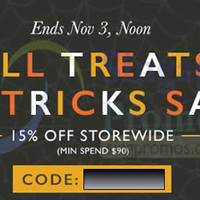 Zalora 15% OFF Storewide Promo Code (inc Sale Items) 1 - 3 Nov 2014