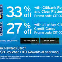 Zalora Up To 33% OFF Coupon Codes For Citibank Cardmembers 2 - 31 Oct 2014