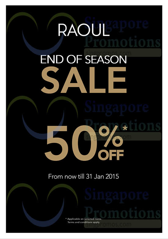 16 Jan 50 Percent Off From Now till 31 Jan 2015