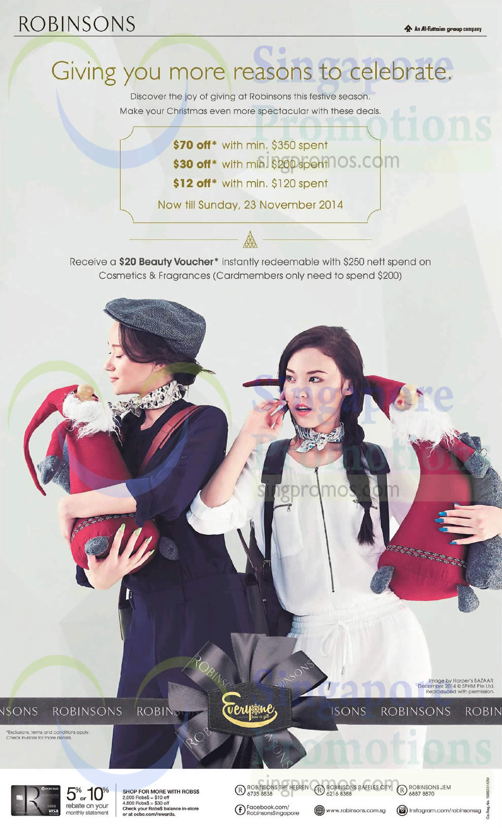 21 Nov Robinsons 20 Dollar Beauty Voucher with 250 Dollar Purchase