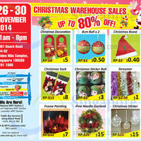 Read more about Unique Event & Exhibition Christmas Warehouse Sale 26 - 30 Nov 2014