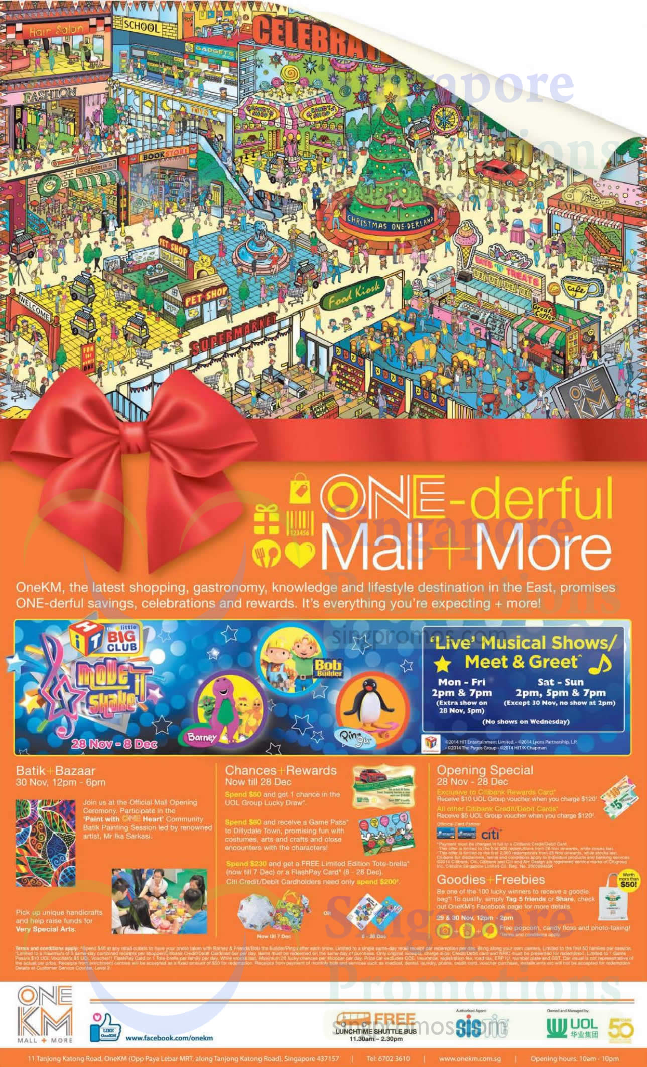 28 Nov Batik Bazaar, Chances, Rewards, Opening Special, Freebies, Live Musical Shows, Meet n Greet