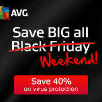 AVG 40% Off Black Friday Promotion 28 - 30 Nov 2014