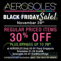 Read more about Aerosoles 30% OFF Storewide Black Friday SALE 28 Nov 2014