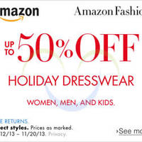 Read more about Amazon Up To 50% OFF Holiday Dresswear 13 - 21 Nov 2014