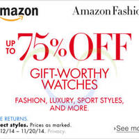 Read more about Amazon Up To 75% OFF Gift-Worthy Watches 13 - 21 Nov 2014
