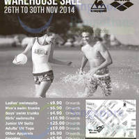Arena Warehouse Sale 26 - 30 Nov 2014