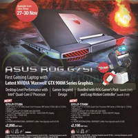 Asus ROG G751 Notebook Prices & Features 26 Nov 2014