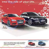 Read more about Audi A3 Sedan, A6 2.0 TFSI, A4 1.8 TFSI & Q5 2.0 TFSI Quattro Offers 15 Nov 2014