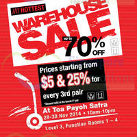 Read more about Bata Up To 70% OFF Warehouse SALE 28 - 30 Nov 2014