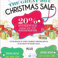 Beauty By Nature 20% Off Storewide Christmas Sale 22 Nov - 31 Dec 2014