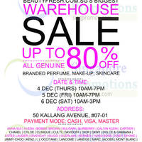 Read more about Beautyfresh Warehouse SALE 4 - 6 Dec 2014