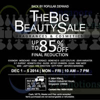 Read more about The Big Beauty Fragrances & Cosmetics Sale 1 - 5 Dec 2014