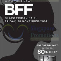 Robinsons Up To 80% OFF Black Friday 1-Day Fair 28 Nov 2014