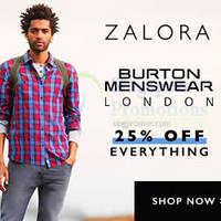 Read more about Burton Menswear London 25% OFF Online Sale 3 - 12 Nov 2014