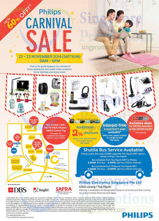 Carnival Sale, Additional 2 Percent Discount, Safra Member Exclusive Deals, Location Map
