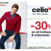 Read more about Celio* 30% OFF Knitwear & Outwear 12 - 25 Nov 2014