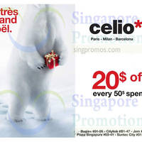 Read more about Celio* Spend $50 & Get $20 Off 26 Nov - 31 Dec 2014