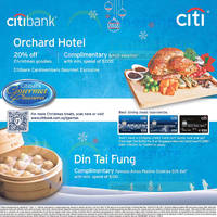 Citibank Orchard Hotel & Din Tai Fung Privileges 23 Nov 2014