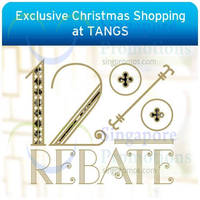 Tangs 12% Rebate 1-Day Promo For Citibank Cardmembers 27 - 28 Nov 2014