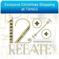 Tangs 12% Rebate 1-Day Promo For Citibank Cardmembers 27 - 28 Nov 2014