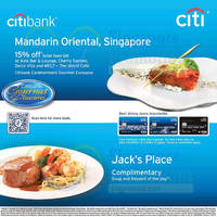 Read more about Mandarin Oriental & Jack's Place Citibank Privileges 9 Nov 2014