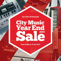 City Music Year End SALE 24 Nov - 31 Dec 2014