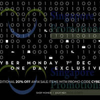 Read more about Club 21 Online 1-day Cyber Monday Promo 1 Dec 2014