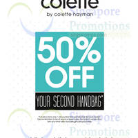 Read more about Colette by Colette Hayman 50% Off 2nd Handbag 12 - 16 Nov 2014