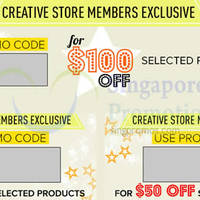 Creative Store Up To $100 OFF (NO Min Spend) Coupon Codes 28 - 30 Nov 2014