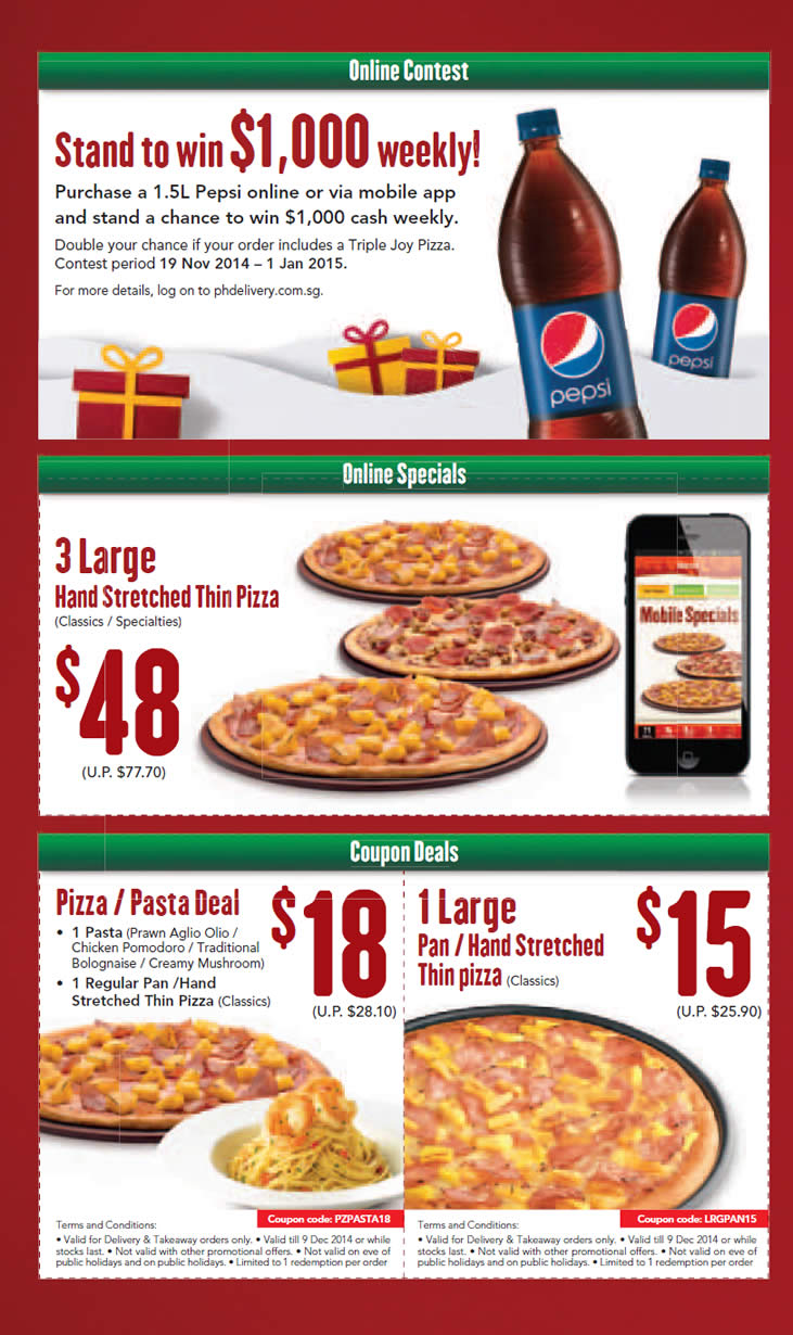 Pizza hut delivery deals coupons