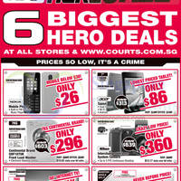 Courts Big Hero Sale Offers 1 - 3 Nov 2014