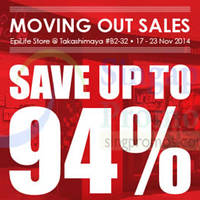 Read more about Epicentre Moving Out SALE @ Takashimaya Shopping Centre 17 - 23 Nov 2014