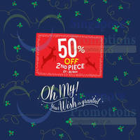 F3 Brands 50% Off 2nd Piece 27 - 30 Nov 2014
