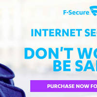 F-Secure Internet Security 50% OFF Black Friday Coupon Code 28 Nov - 1 Dec 2014
