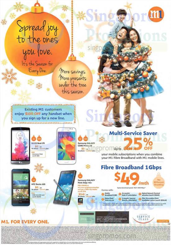 Fibre Broadband 1Gbps, Multi-Service Saver, LG G3 Beat, Samsung Galaxy Core Prime, Samsung Galaxy Note Edge, HTC Desire 610