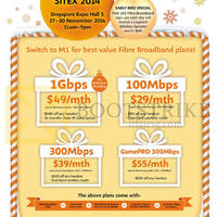 M1 SITEX 2014 Smartphones, Tablets & Home/Mobile Broadband Offers 27 - 30 Nov 2014