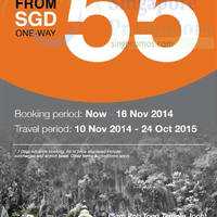 Read more about Firefly From $55 Subang, Ipoh & Kuantan Promo Air Fares 4 - 16 Nov 2014