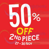Fox 50% Off 2nd Piece Christmas Weekend Special 27 - 30 Nov 2014