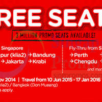 Read more about Air Asia FREE Seats Promotion 10 - 16 Nov 2014