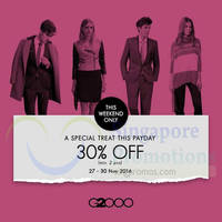 G2000 30% Off Payday Promo 27 - 30 Nov 2014