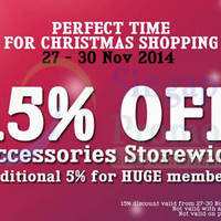 GadgetWorld 15% Off Accessories Storewide Promo 27 - 30 Nov 2014