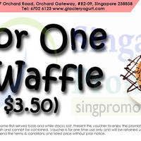 Glacier Frozen Yogurt Cafe 1 for 1 Waffle @ Orchard Gateway 21 Nov - 31 Dec 2014
