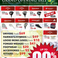 Golf Bargains Grand Opening Sale @ Jalan Pemimpin 28 Nov - 14 Dec 2014