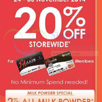 Guardian 20% OFF Storewide For Passion Cardmembers 24 - 30 Nov 2014