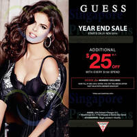Guess Year End Sale 21 Nov 2014
