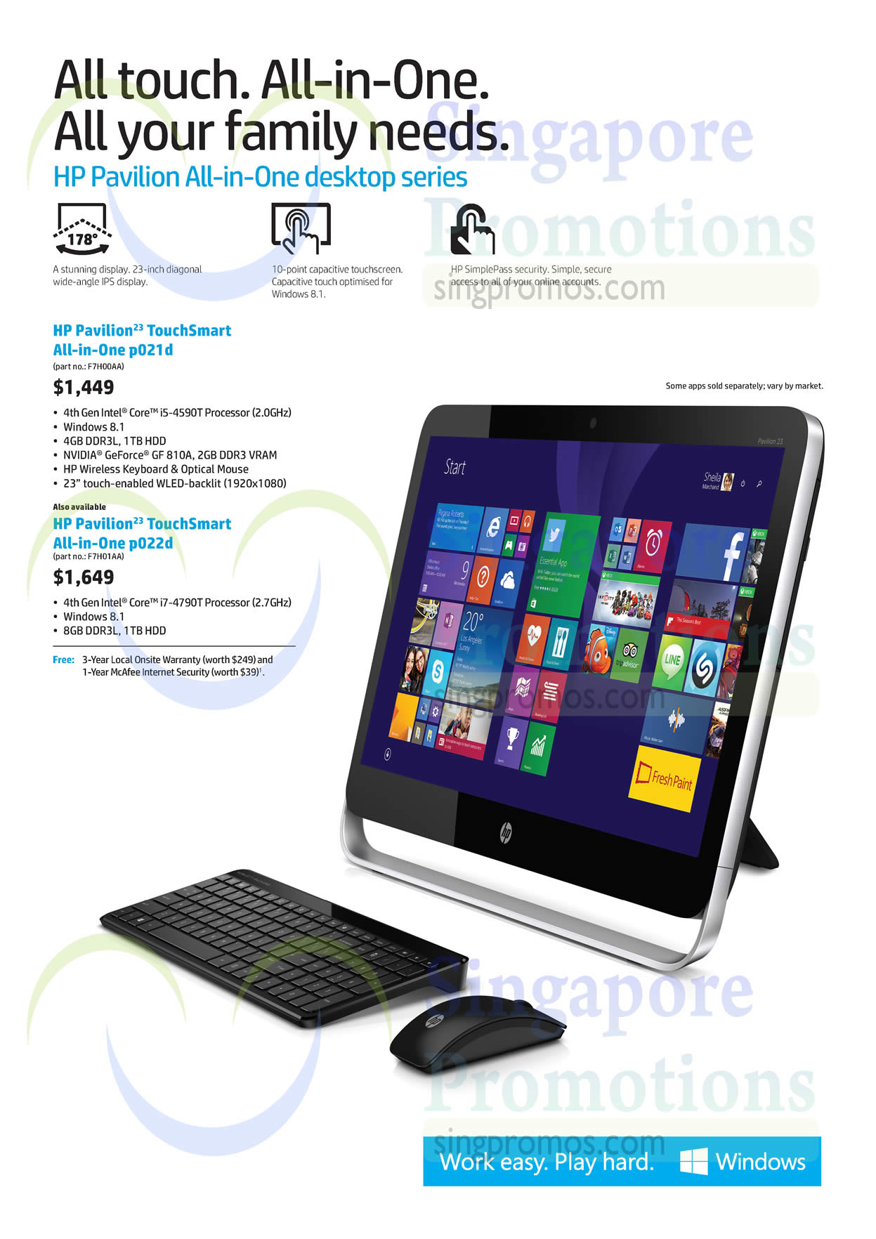 HP Pavilion All-in-One Desktop Series » HP Notebooks ...